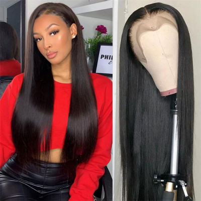 180% Density Lace Front Wigs Straight Virgin Hair Cheap Real Hair Wigs For Black Women