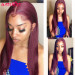 1B/99J 99J Colored Lace Front Wigs Straight Pre Plucked Lace Wigs Best Human Hair Wigs With Baby Hair