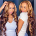 honey blonde highlights wig