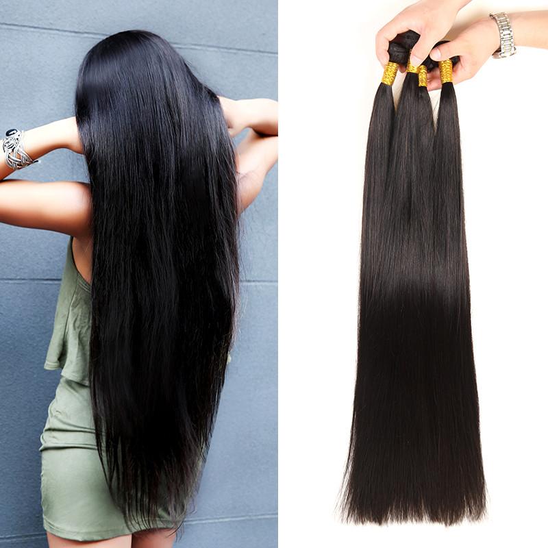 Straight Hair 3 Bundles Long Weave 32 36 Inches Brazilian Virgin Hair West Kiss Hair