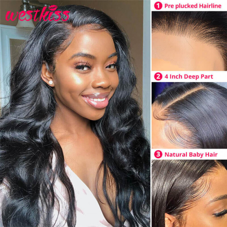West Kiss Hair Lace Wigs With 100% Human Hair Advantages Body_wave_4x4_wigs_3__4
