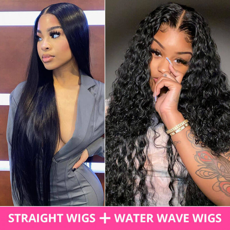 Buy 1 Get 2 Lace Part Wigs Straight Hair And Water Wave West Kiss Hair