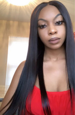 Straighten. The hair was gorgeous. Wi...