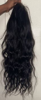 Hair is true to length. There is 0 sh...