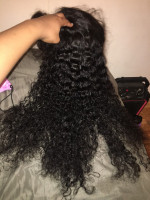 I added my bundles to my wig. It look...