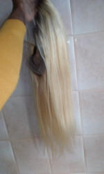lovely wig with perfect roots and tru...
