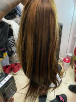 Beautiful hair. The hair is thick and...