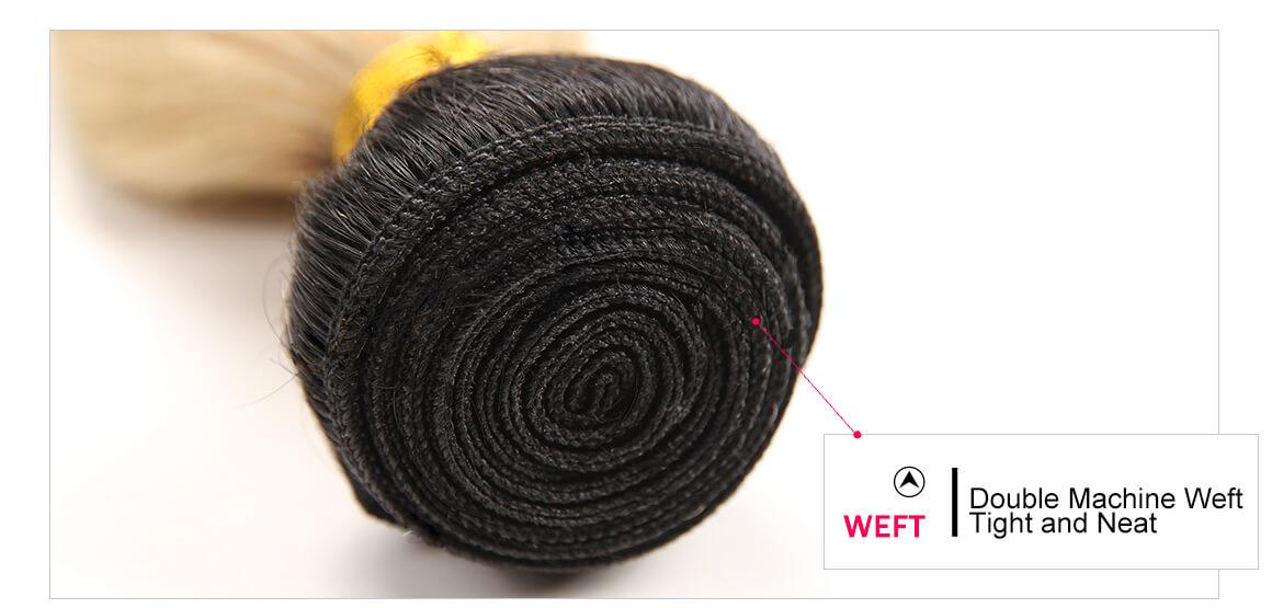 Ombre Hair Color 1B/613 Body Wave 3 Bundles