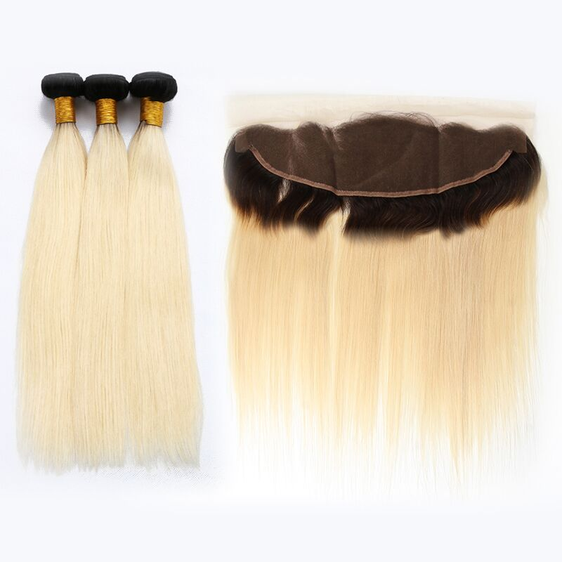 3 PCS 1B/613 Color Brazilian Straight Hair