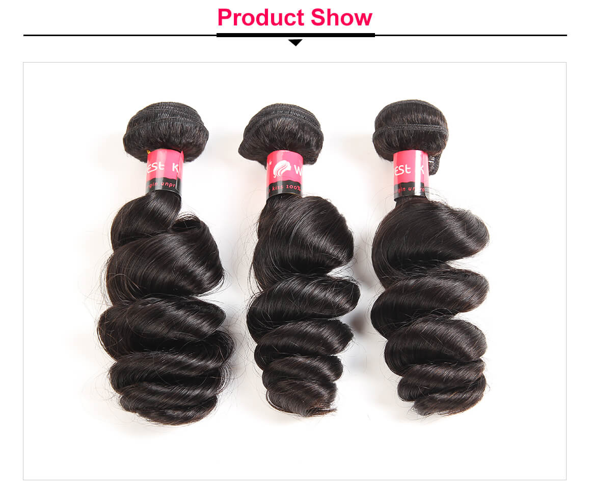 Brazilian Loose Wave Weave 3 Bundles