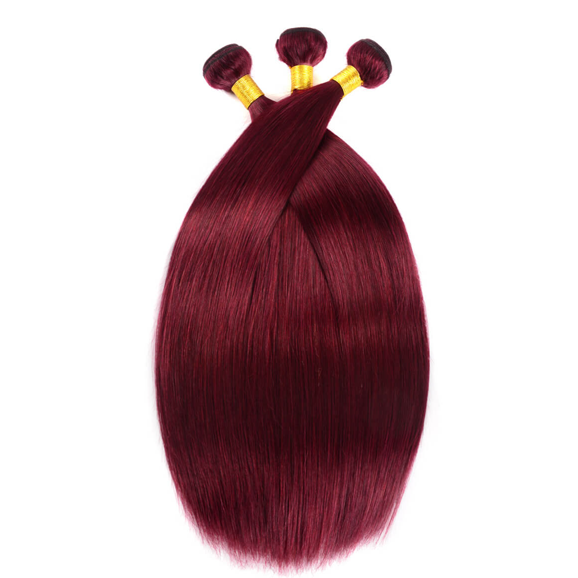Straight Hair Burgundy Color 3PCS
