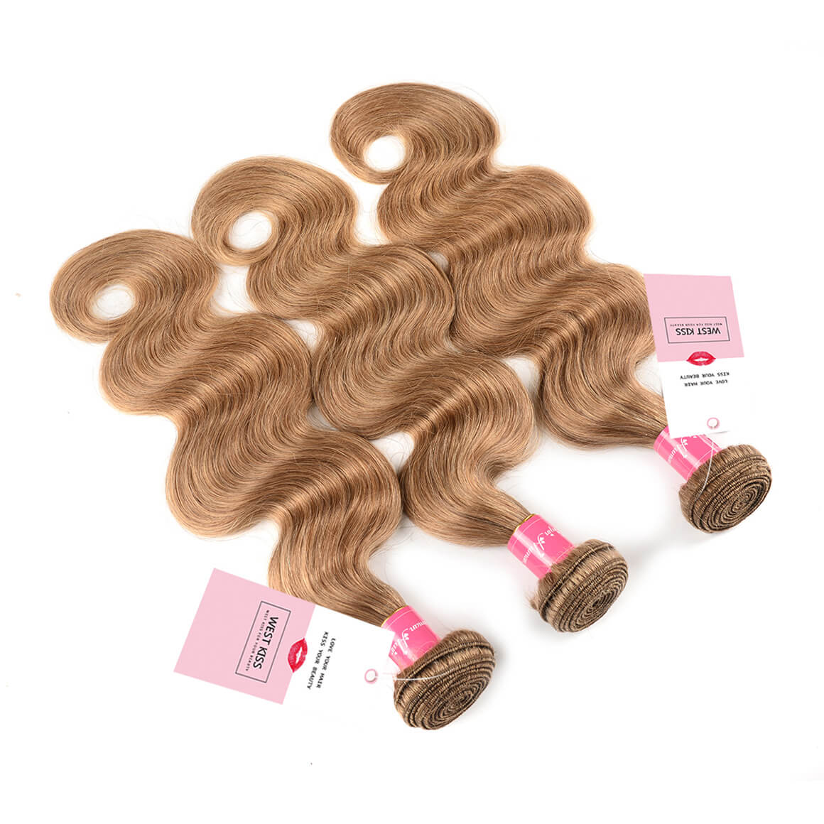 Honey Blonde Body Wave Weave 3 Bundles
