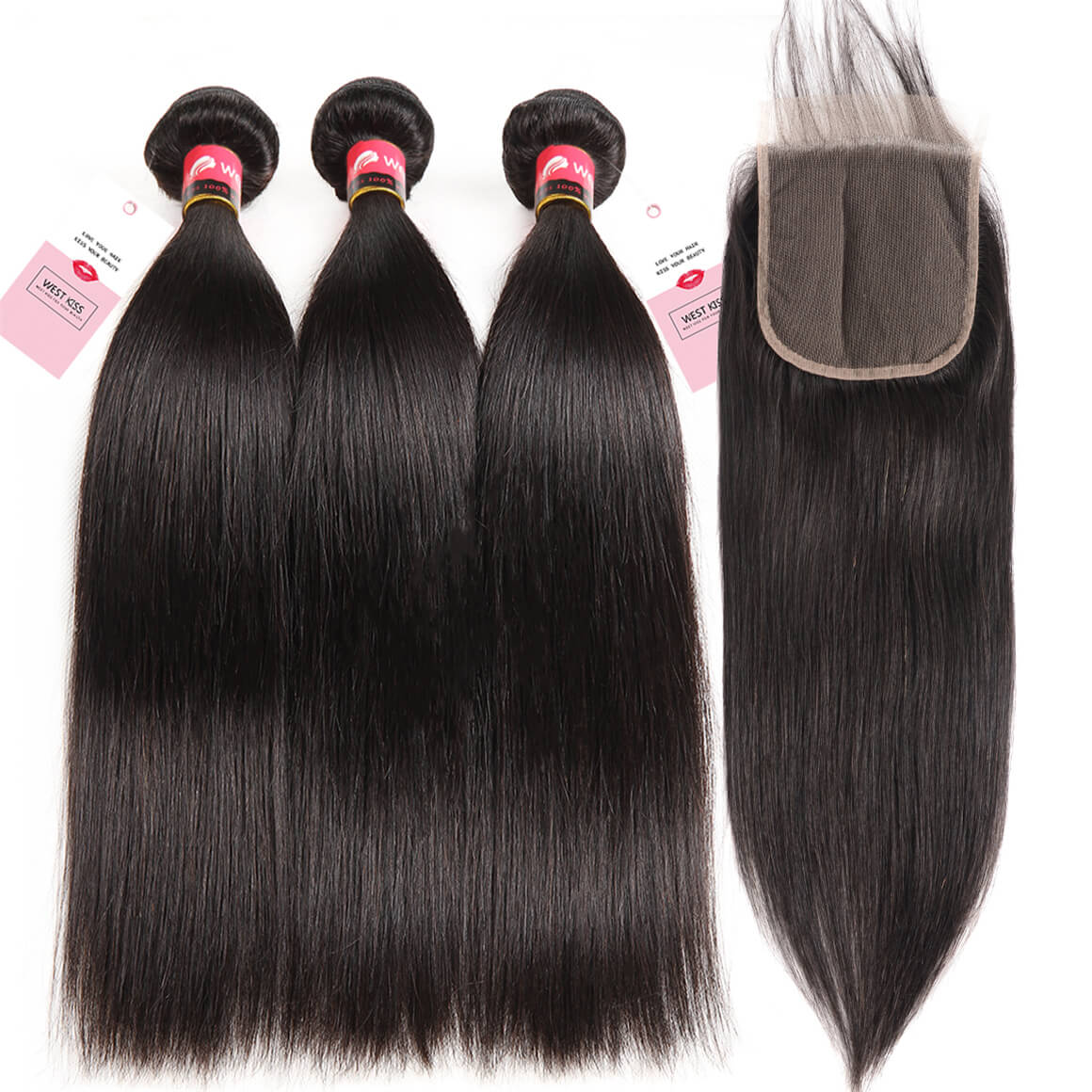 Straight Human Hair 3 Bundles