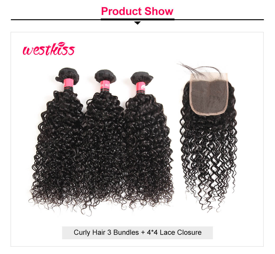 Curly Hair Bundles 3 Bundles