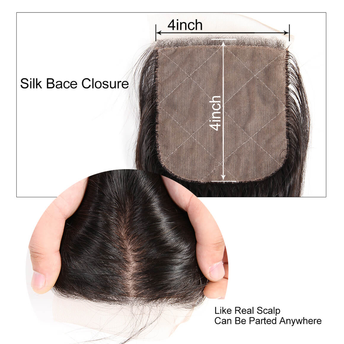 4*4 Silk Base Closure
