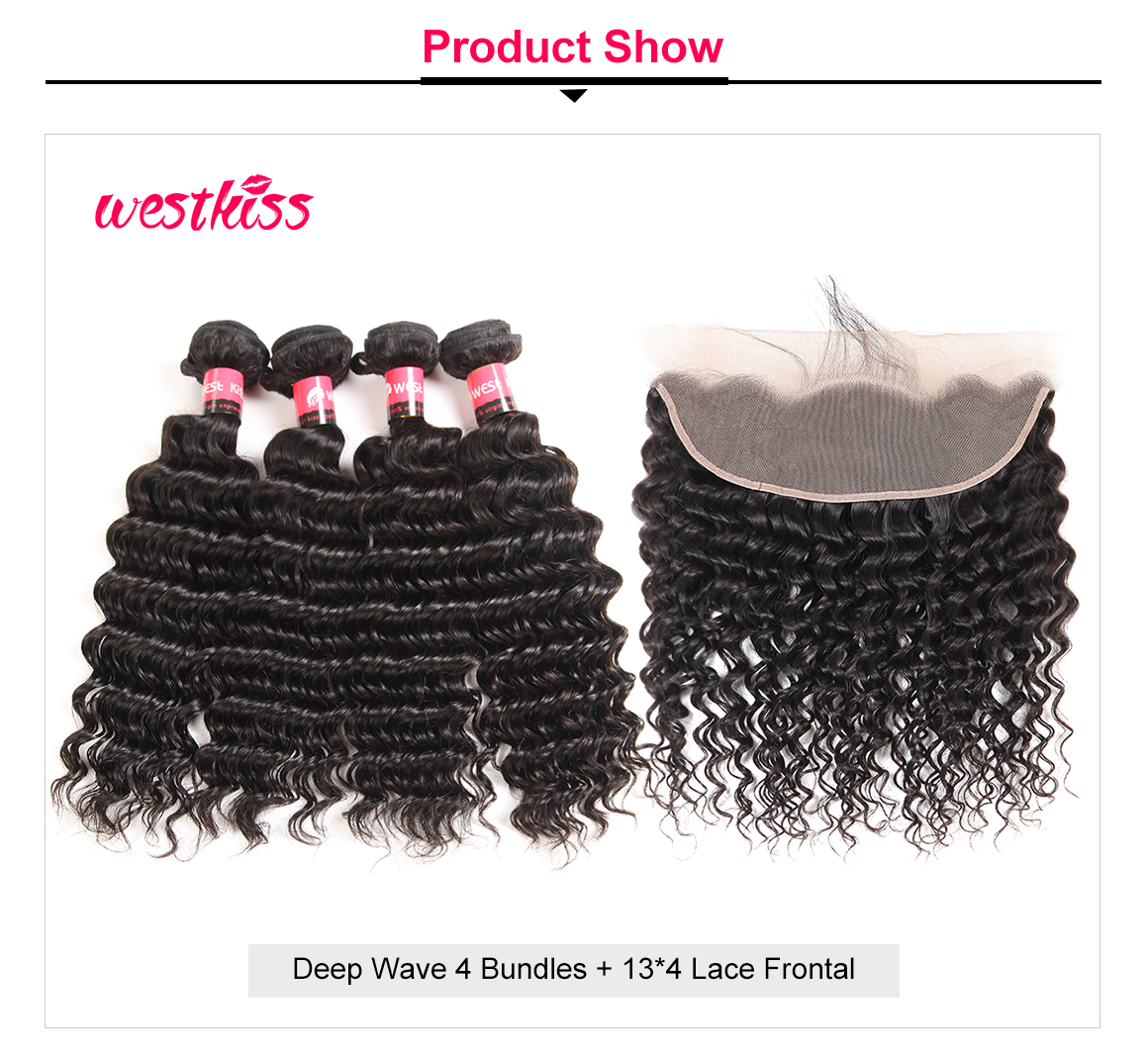Brazilian Deep Wave Weaves 4 Bundles