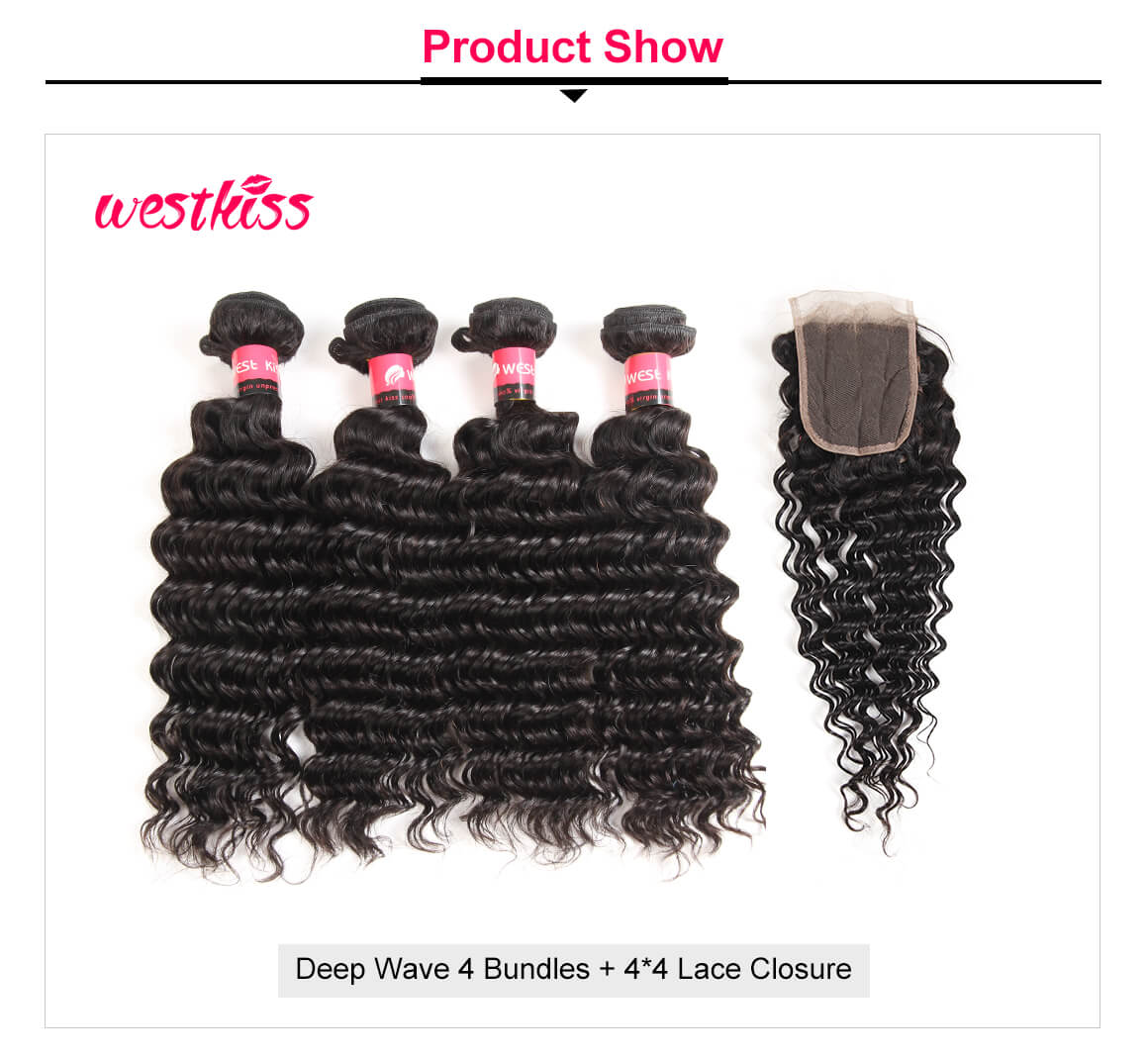 Brazilian Deep Wave Virgin Hair 4 Pcs