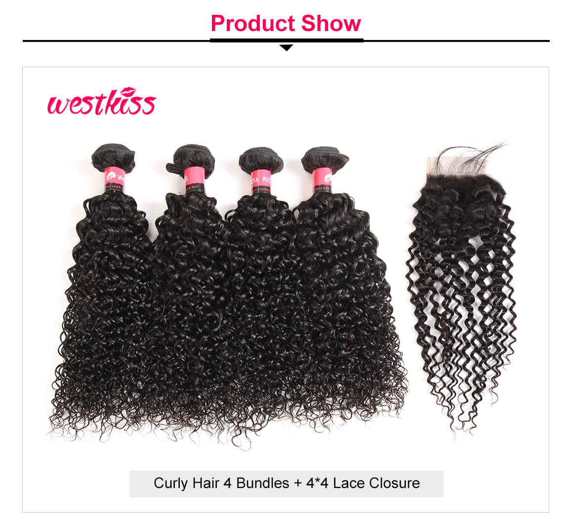 Brazilian Kinky Curly Wave 4 Bundles