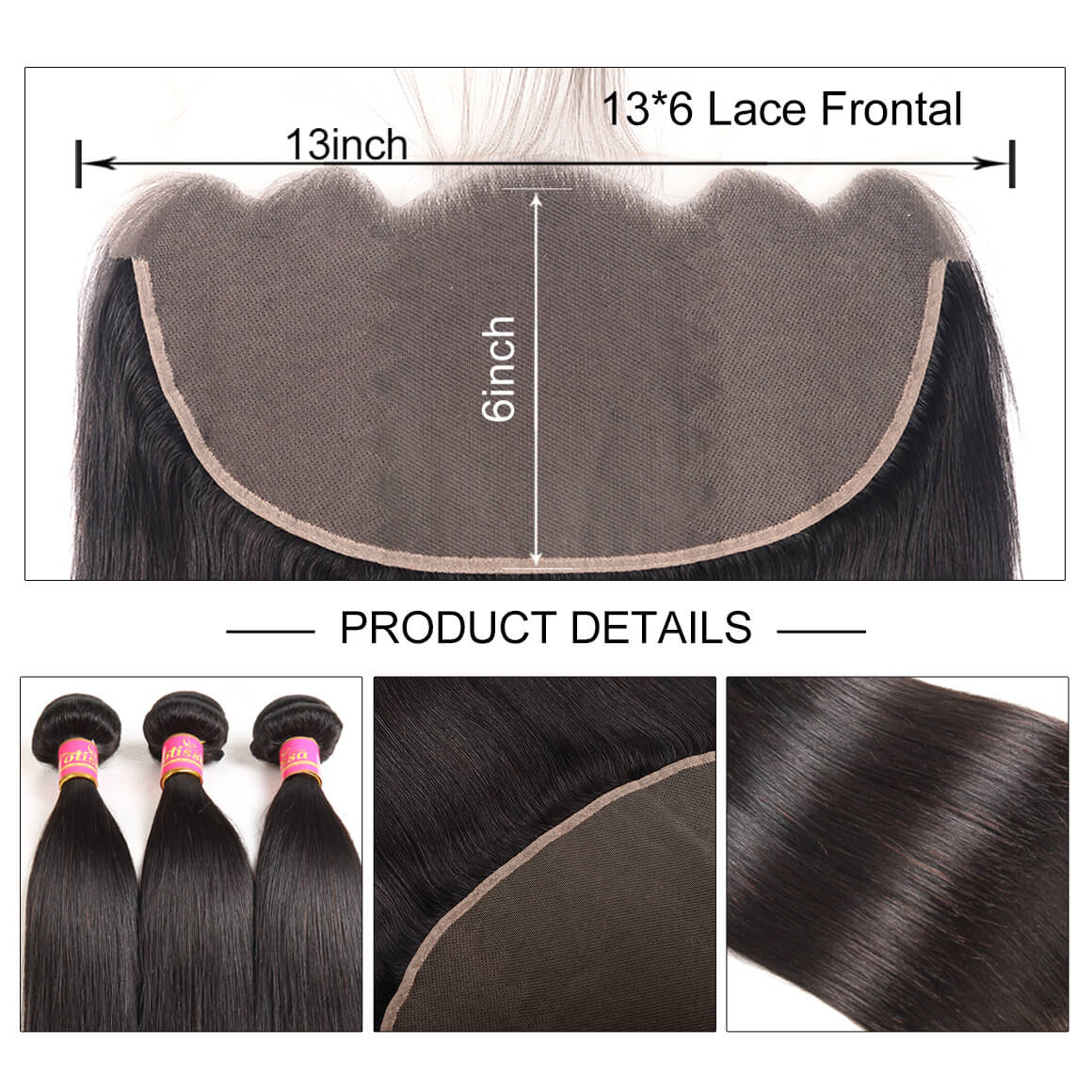 13*6 Lace Frontal Closure