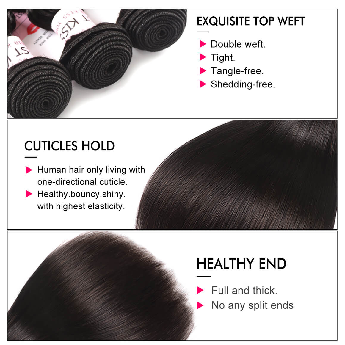 Brazilian Straight Human Hair