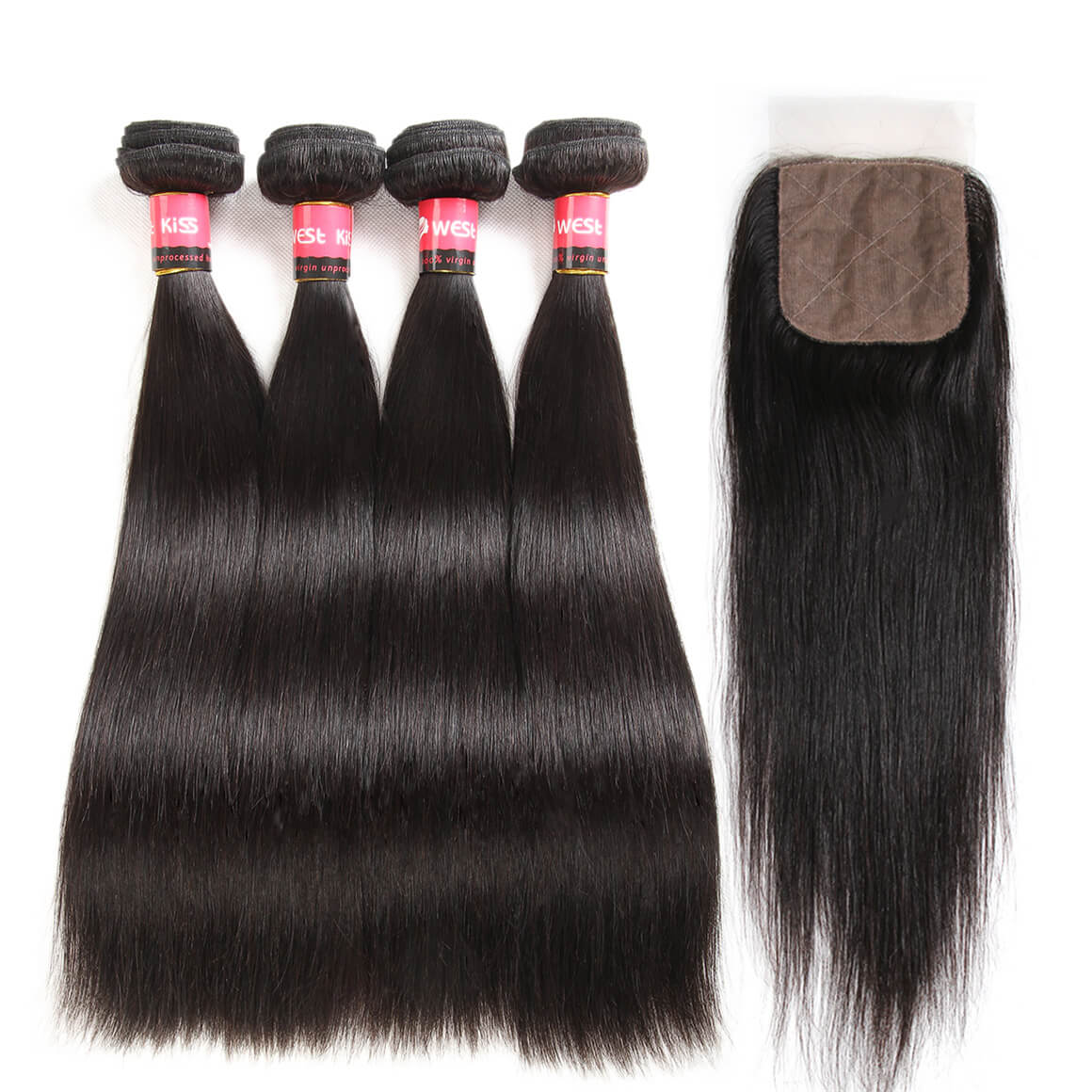 Brazilian Straight Hair 4 PCS
