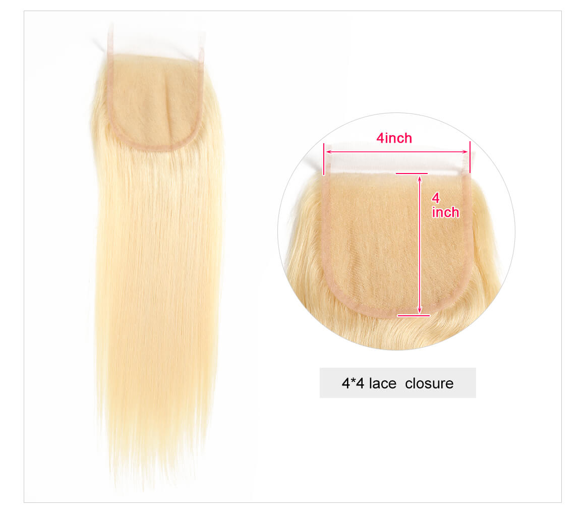 613 Blonde Hair  Lace Closure