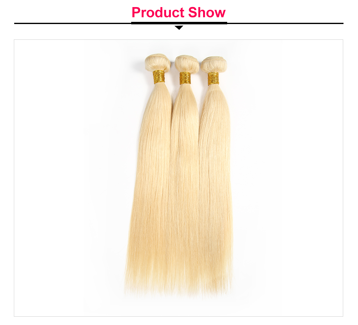 613 Blonde Straight Virgin Hair