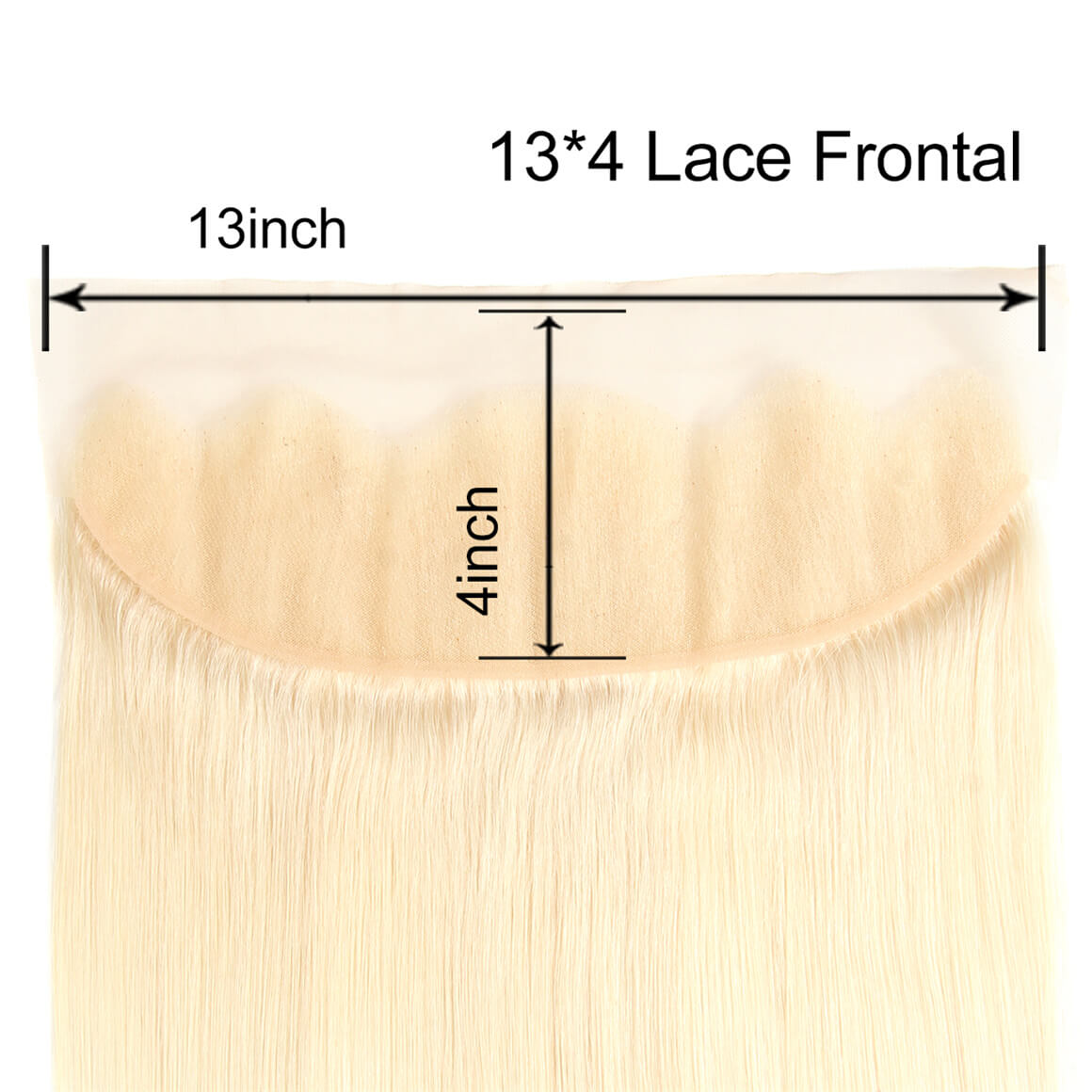 13*4 Frontal Closure Blonde Hair