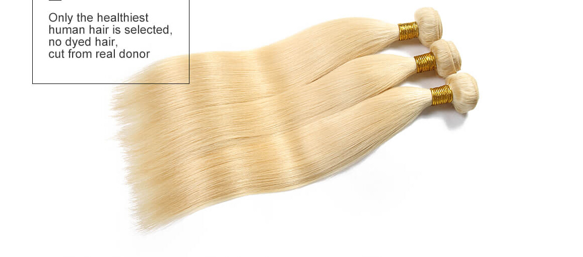 3 Bundles Blonde Weave Human Hair