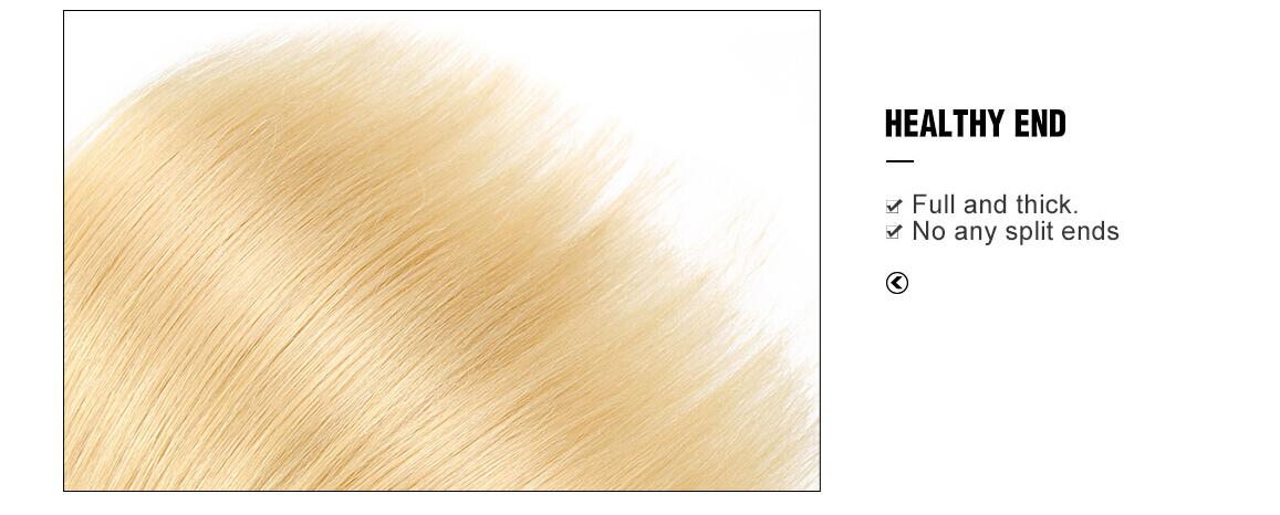 Straight Virgin Hair 613 Color