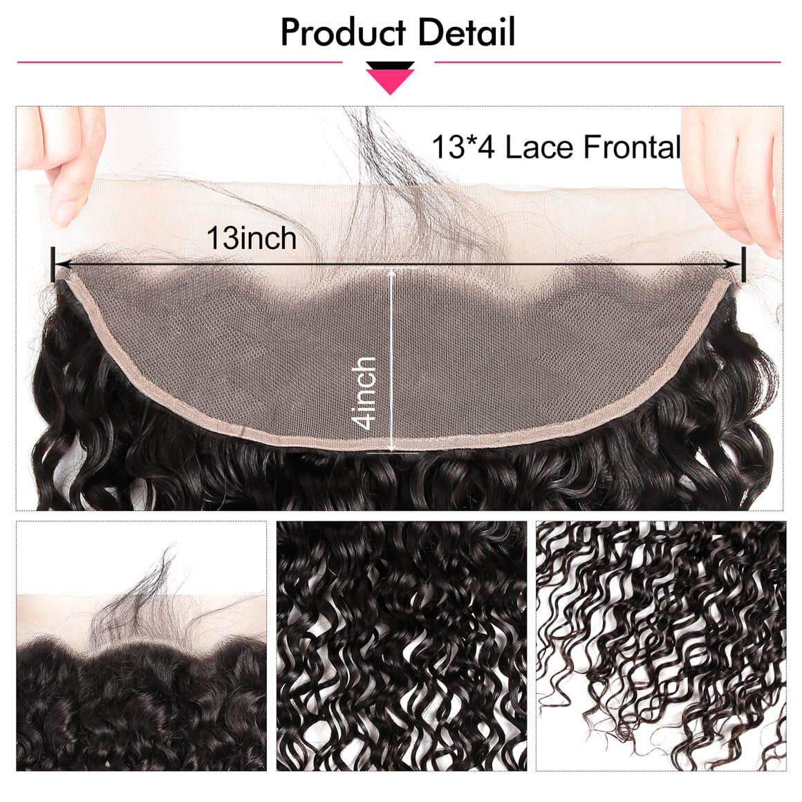 13*4 Lace Frontal Closures Natural Wave