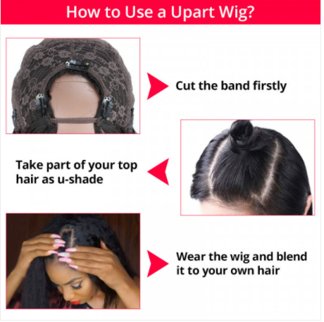 how to install U part wigs