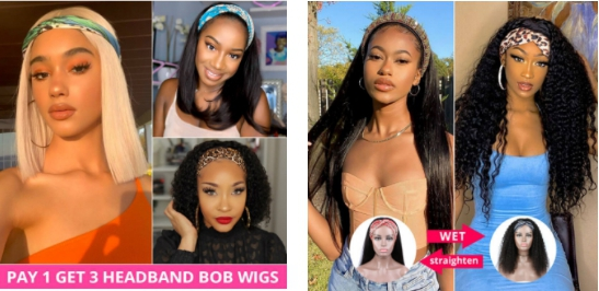 The African American Women Best Choice: Headband Wigs Human Hair
