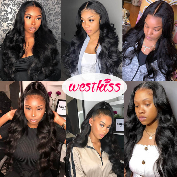 West Kiss Hair Transparent Lace Wigs Back To Stock