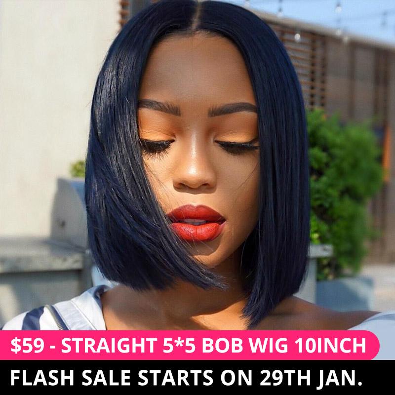 Only $59 - Straight Bob Wig Flash Sale