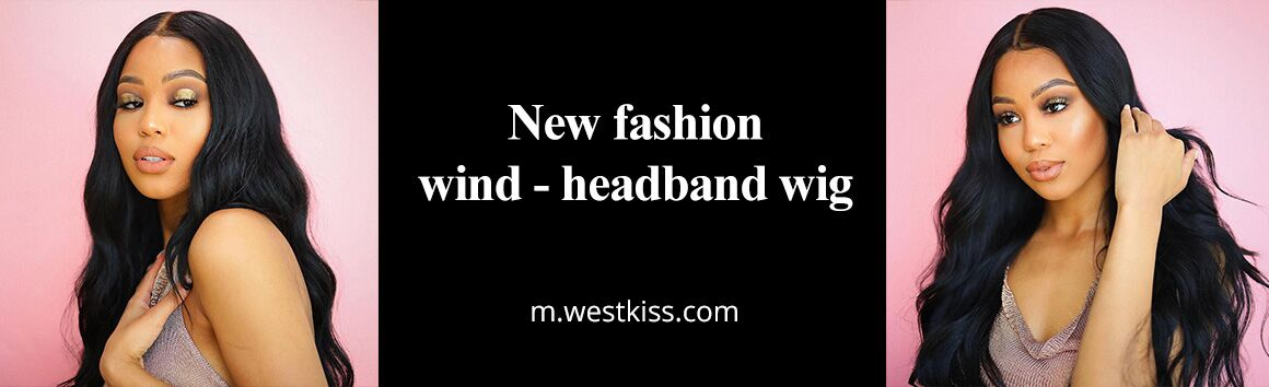 New fashion wind - headband wig