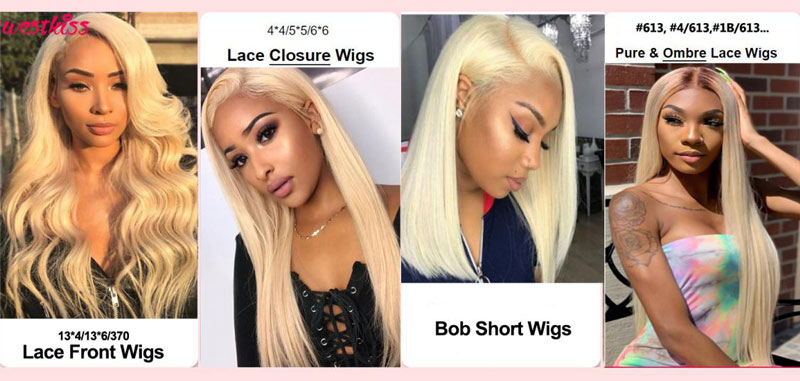 Buy 613 blonde lace wigs Tutorial on West Kiss Store
