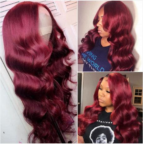 Flamboyant Fashion Performance - Burgundy Wig