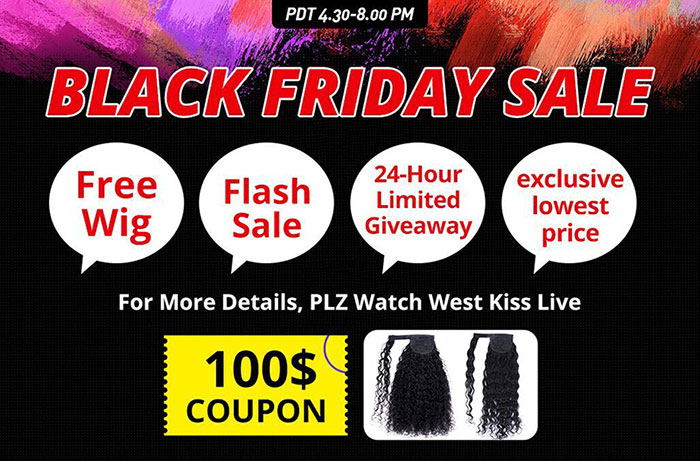 West Kiss Hair Black Friday SALE