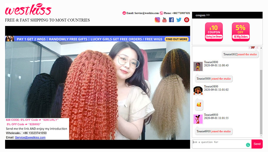 West Kiss Hair Website Anniversary Sale