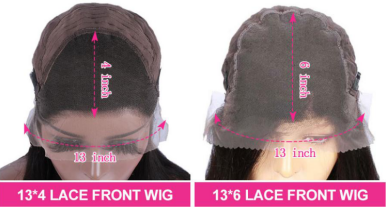 13x4 and 13x6 lace front wigs