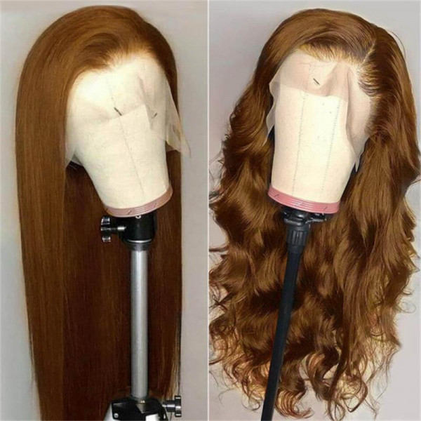 8 brown lace front wigs