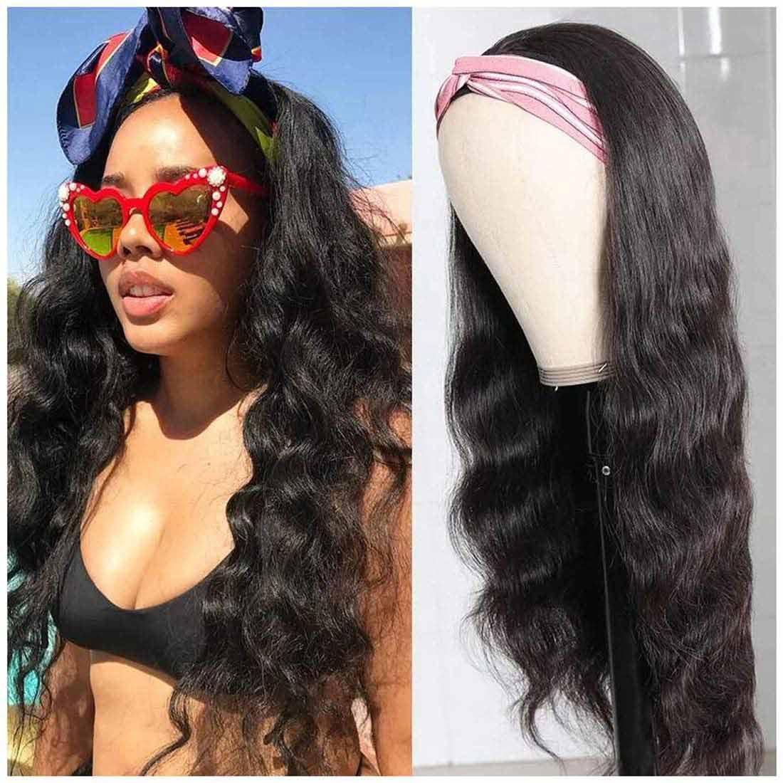 Headband body wave wig