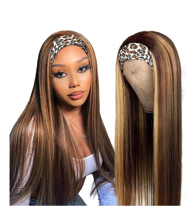 Headband highlight wig