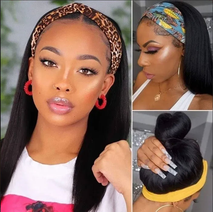 Headband straight wig