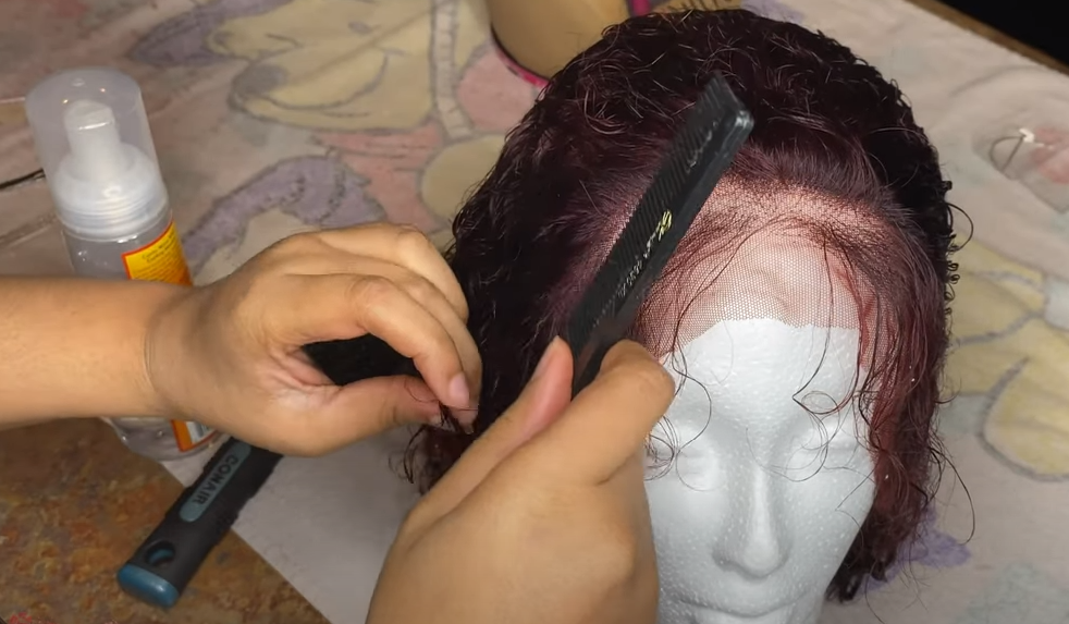 make curly wigs straight