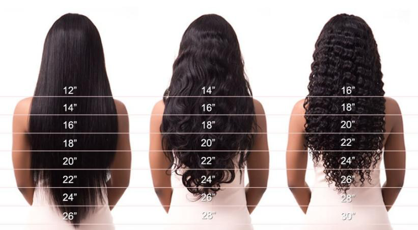 different hair length