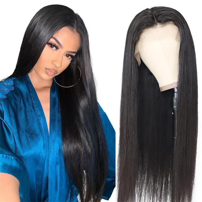 straight lace frontal human hair wig