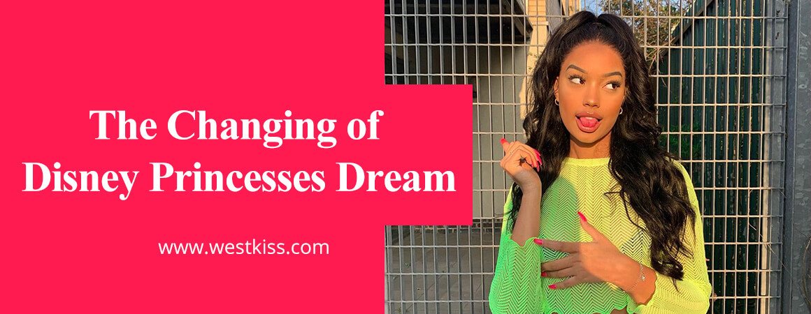 The Changing of Disney Princesses Dream by use human hair wig
