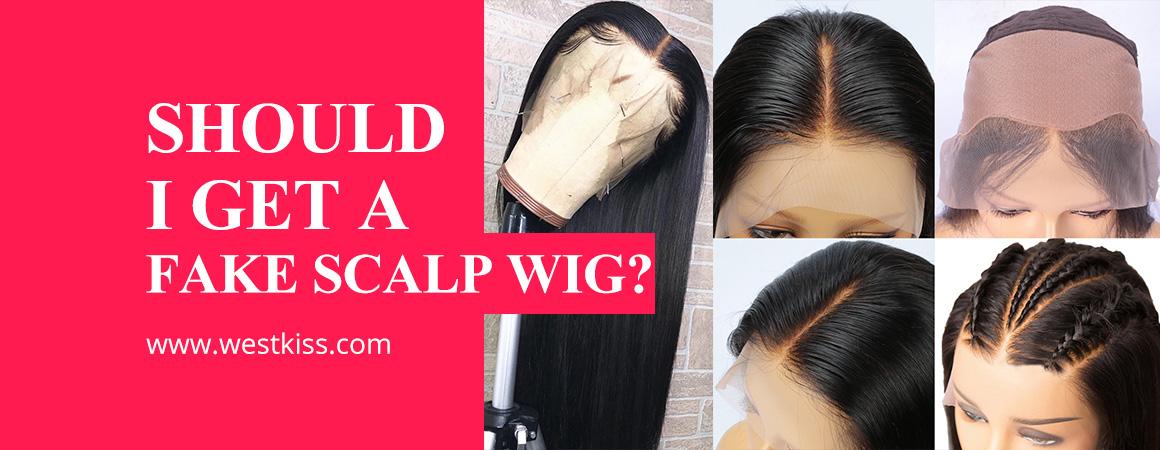 Fake Scalp human hair Wig